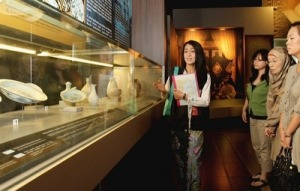 ully involved: Museum volunteer Reiko Sato (left) does a lot of research to prepare for the guided tours that she gives visitors
