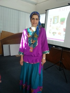 Jaleh in traditional Iranian costume