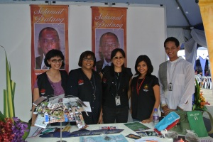 The five of us at the MV booth