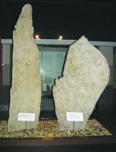 Replicas of the 'Sword' and the 'Rudder' at Muzium Negara