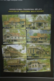 Traditional Malay houses from the various states.