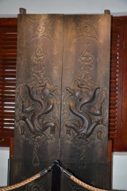Door in a longhouse in Sarawak.