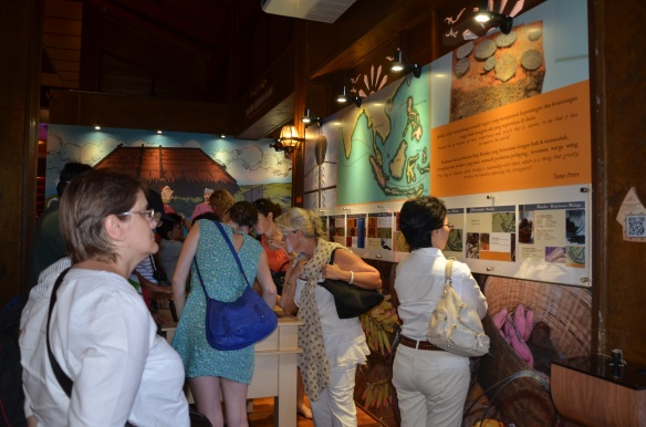 Volunteers browsing through the exhibits at the centre