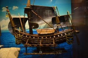 replica of Majapahit Boat, on display at Muzium Negara