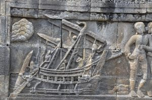 Bas-relief of Borobudur Boat
