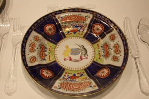Ceramic dinner plate with an emblem of Melaka