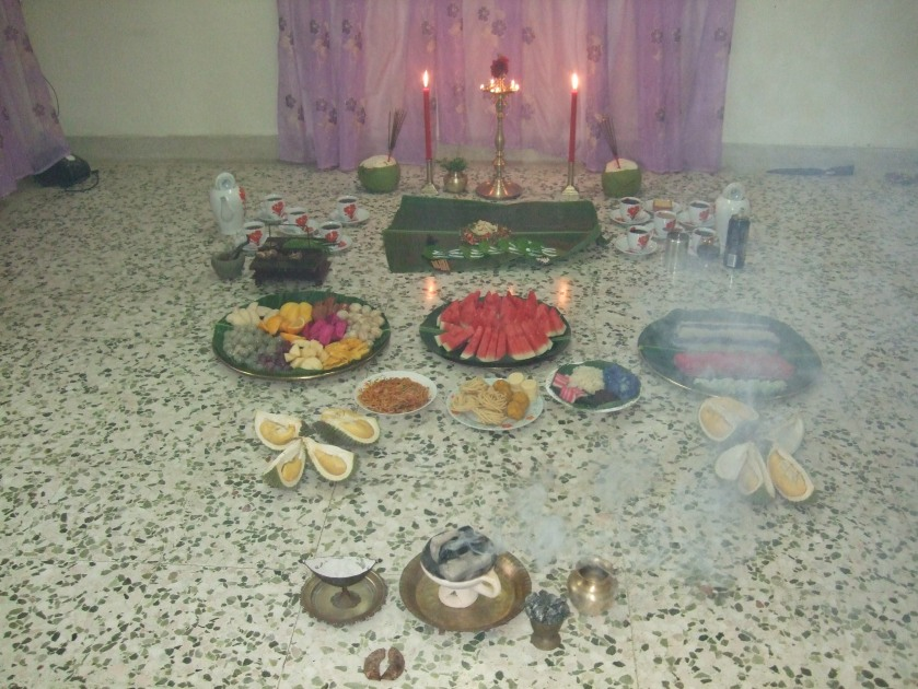 The complete display of the offerings